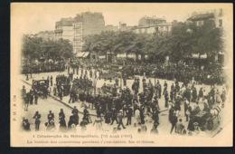 PARIS -METRO- Catastrophe Du Métropolitain 1903- Station Des Couronnes Pendant L'évacuation Des Victimes - Pariser Métro, Bahnhöfe
