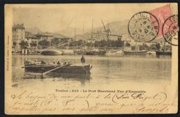 TOULON - Var- Le Port Marchand -vue D'ensemble-CPA Voyagée 1903- Phototypie Lacour N° 853- Recto Verso - Toulon