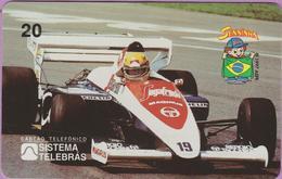 Télécarte °° Prépayée - Brésil - Ayrton Senna Sur La 19 - RV - Brésil