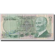 Billet, Turquie, 10 Lira, L.1930, 1966-07-04, KM:180, TB - Turquie