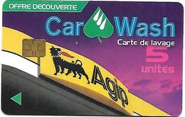 @+ Carte De Lavage AGIP - 5 UNITES (offerte) - France - Frankrijk