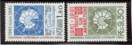 B4 - PO 91 De 1980 ** MNH Et PO162 ** MNH De 1991 - TRAITE Sur L' ANTARCTIQUE. - Terres Australes Et Antarctiques Françaises (TAAF)