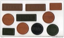 """10 JETONS PUBLICITAIRES . """" BYRRH """" . COMPTER LES POINTS À LA BELOTE - Réf. N°7PO - - Autres Collections"""