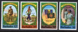 BARBADOS - 1980 REGIMENT SET (4V) WITH CORNER MARGINS FINE MNH ** SG 655-658 - Barbados (1966-...)