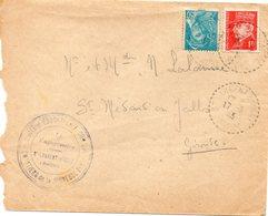 LES CHANTIERS DE LA JEUNESSE CAMP DE SAINT LAURENT D AGNY 5RHONE (rhone) - Marcophilie (Lettres)