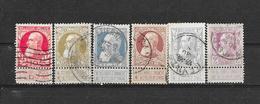 België 1905 Y&T  Nr 74,75, 76,77,78,80 (o) - 1905 Grosse Barbe