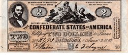 CONFEDERATE STATES Of AMERICA   TWO DOLLARS 1862 - Bondsuitgaven