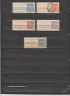 FRANCE 5 TIMBRES TELEPHONE OBLITERES DE 1877 & 1900  Cote : 34 € - Télégraphes Et Téléphones
