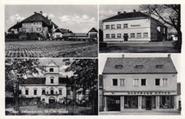 AK - NÖ - OBERSIEBENBRUNN - Bäuerl. Fachschule, Volkschule, Schloß Und Kaufhaus Meyer - Gänserndorf
