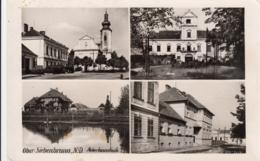 AK - NÖ  - OBERSIEBENBRUNN - Bäuerl. Fachschule, Kindergarten, Kirchenplatz U. Schloss - Gänserndorf