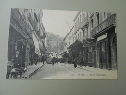 HERAULT CETTE  RUE DE L'ESPLANADE SETE - Sete (Cette)