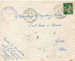 LES CHANTIERS DE LA JEUNESSE GROUPEMENT N°10 SAINT LAURENT DU PONT Isere   GRANDE CHARTREUSE - Marcophilie (Lettres)