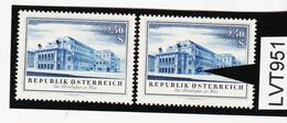 LTV951 ÖSTERREICH 1955 Michl 1030 PLATTENFEHLER GROSSES EINSCHUSSLOCH ** Postfrisch - Abarten & Kuriositäten