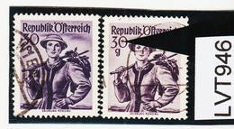 """LTV946 ÖSTERREICH 1950 Michl 900 PLATTENFEHLER FARBFLECK In """"0"""" Gestempelt - Abarten & Kuriositäten"""