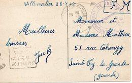 LES CHANTIERS DE LA JEUNESSE GROUPEMENT N°2 JEHAN DE VIENNE Crotenay Jura - Marcophilie (Lettres)