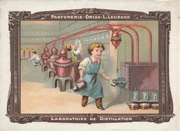Parfumerie ORIZA-LEGRAND - Jolie Chromo Avec Tarif Des Savons Au Dos - Perfume Cards