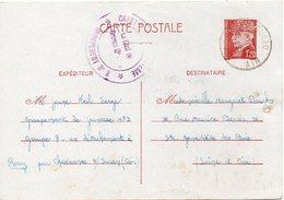 LES CHANTIERS DE LA JEUNESSE GROUPEMENT N°3 DE BOURNAZEL  Bourg Ain - Marcophilie (Lettres)