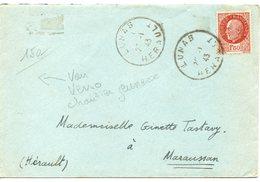 LES CHANTIERS DE LA JEUNESSE GROUPEMENT N°25 ROLAND Bousquet D Orb Herault - Marcophilie (Lettres)