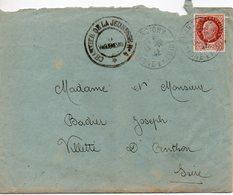 LES CHANTIERS DE LA JEUNESSE GROUPEMENT N°4  VAUBAN Cormatin Saone Et Loire - Marcophilie (Lettres)