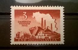 FRANCOBOLLI STAMPS JUGOSLAVIA YUGOSLAVIA 1950 MNH** NUOVI ZAGREB FAIR - 1945-1992 Repubblica Socialista Federale Di Jugoslavia
