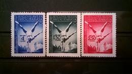 FRANCOBOLLI STAMPS JUGOSLAVIA YUGOSLAVIA 1947 MNH** NUOVI SERIE COMPLETA SPORT BALKAN GAMES LJUBIJANA - 1945-1992 Repubblica Socialista Federale Di Jugoslavia