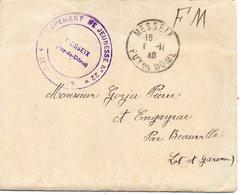 LES CHANTIERS DE LA JEUNESSE GROUPEMENT N°22  LA TOUR D AUVERGNE Meisseix Puy De Dome - Marcophilie (Lettres)