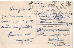 LES CHANTIERS DE LA JEUNESSE GROUPEMENT N°5 LYAUYEY  Pontgibaud Puy De Dome - Marcophilie (Lettres)