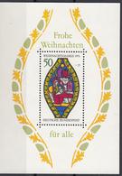 Germania 1976 Sc. B537 Nativity Natale Christmas Vetrata Window Cattedrale Essling Sheet Perf. MNH - Vetri & Vetrate