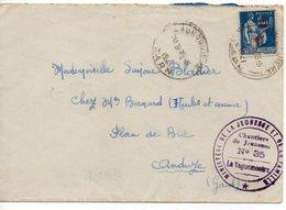 LES CHANTIERS DE LA JEUNESSE GROUPEMENT N°35 DE LA MONTAGNE NOIREla Bruguiere Tarn - Marcophilie (Lettres)