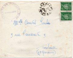 LES CHANTIERS DE LA JEUNESSE GROUPEMENT N°47 POL LAPEYRE Gabarret Landes - Marcophilie (Lettres)