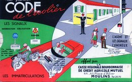 Amusant Code De L'écolier Années 60. Dessins à Glissière. Crédit Agricole Moulins (Allier). - Publicité