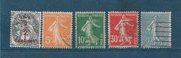 France Semeuse Camée  N°157 A 161 Oblitérés - 1906-38 Semeuse Camée