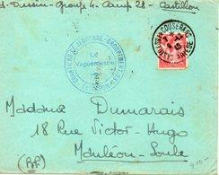LES CHANTIERS DE LA JEUNESSE GROUPEMENT N°28 PEGUY  Castillon Ariege - Marcophilie (Lettres)