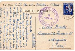 LES CHANTIERS DE LA JEUNESSE GROUPEMENT N°26 CAMP DES MARECHAUX  Saint Gaudens Ht Garonne - Marcophilie (Lettres)
