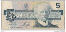 CANADA -5 Dollars 1986 - N° EOJ1790614 - - Canada
