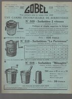 Joué Les Tours (37 Indre Et Loire) Dépliant  GOBEL (sorbetières Et Autres Objets Ménagers Métalliques ) 1938 (PPP9808) - Advertising