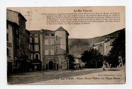 - CPA LES VANS (07) - Place Henri Thibon Ou Place Neuve 1924 - Edition Philocartiste N° 11 - - Les Vans