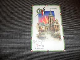 Guerre ( 209 )   Vallÿ  1914 Oorlog   - Hold To Light Tenir à La Lumière Durchscheinend - Carte Allemand Kriegspostkarte - Contre La Lumière