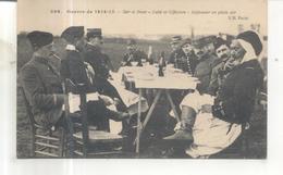 296. Guerre De 1914-15. Sur Le Front, Caïd Et Officiers, Déjeuner En Plein Air - Guerre 1914-18