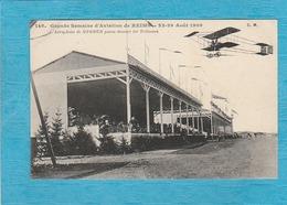 Reims. - Grande Semaine D'Aviation De Reims. 22-29 Août 1909. L'Aéroplane De Sommer Passe Devant Les Tribunes. - Reims