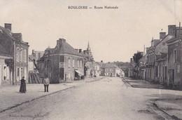 Bouloire  Route Nationale  Cachet Hopital Temporaire Bénévole N° 1 Bis Au Verso   PRIX FIXE - France