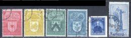 Belgique 1946 Yvert 743 / 746 - 748 - 754 (o) B Oblitere(s) - Gebruikt