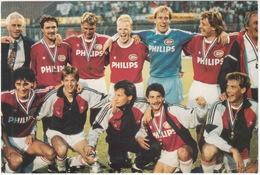 PSV 1988 Europacup I & KNVB Beker Winnaar: Lerby, Valckx, R.Koeman, Vanenburg, Gilhaus, V. Aerle, V. Breukelen, Heintze - Voetbal