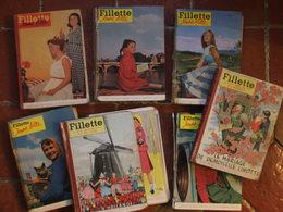 BD Périodiques - Lot De 8 Reliures Fillette (1954 - 1959) - La Semaine De Suzette