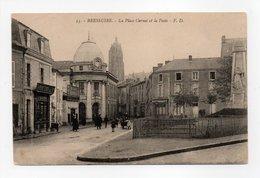 - CPA BRESSUIRE (79) - La Place Carnot Et La Poste 1911 - Edition F. D. N° 55 - - Bressuire