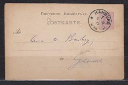 Dt.Reich Klauckestempel Hamburg 1 I * /6.10.79 Auf Ganzsache P 5 - Deutschland