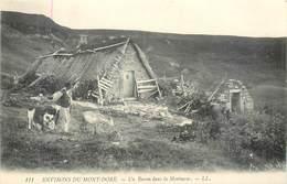 CPA 63 PUY DE DOME Environs Du Mont-Dore - Un Buron Dans La Montagne - LL. 111 - Neuve - Troupeau Chèvres - Le Mont Dore