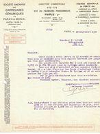 1920 S.A. DES CARRELAGES CERAMIQUES DE PARAY-LE-MONIAL DIRECTION COMMERCIAL RUE DU FAUBOURG POISSONNERIE PARIS - France