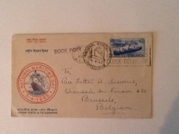 India FDC National Maritime Day 5-4-1965 Sent To Belgium - Lettres & Documents
