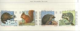 PIA  - BELGIO  -  1992  : Fauna - Piccoli Mammiferi Emessi In Carnet -    (YV  C2477) - Ungebraucht